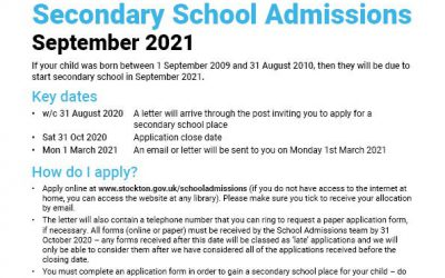 Secondary School Admissions September 2021